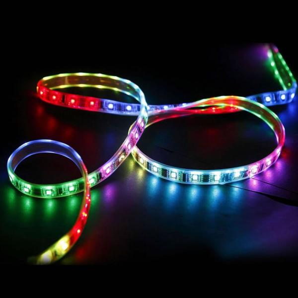 Tira de led 12v dc smd5050 300 leds rgb ip25 iluminashop for Tiras led de colores