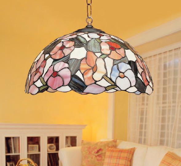 L mpara de techo tiffany ebro iluminashop - Lamparas decorativas de techo ...