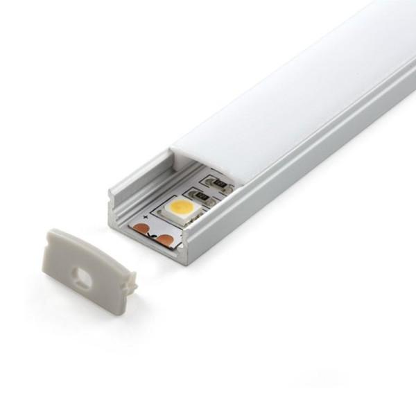 Perfil de aluminio u 1 metro iluminashop - Perfil aluminio u ...