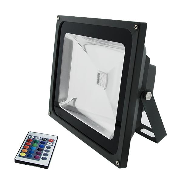 Foco proyector led rgb 50w iluminashop - Foco proyector led ...