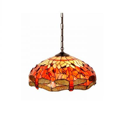 L mpara de techo tiffany carla iluminashop - Precios de lamparas ...