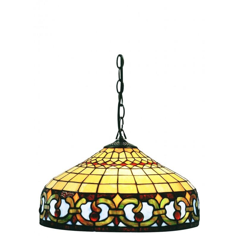 L mpara de techo tiffany cenefa iluminashop - Lamparas decorativas de techo ...