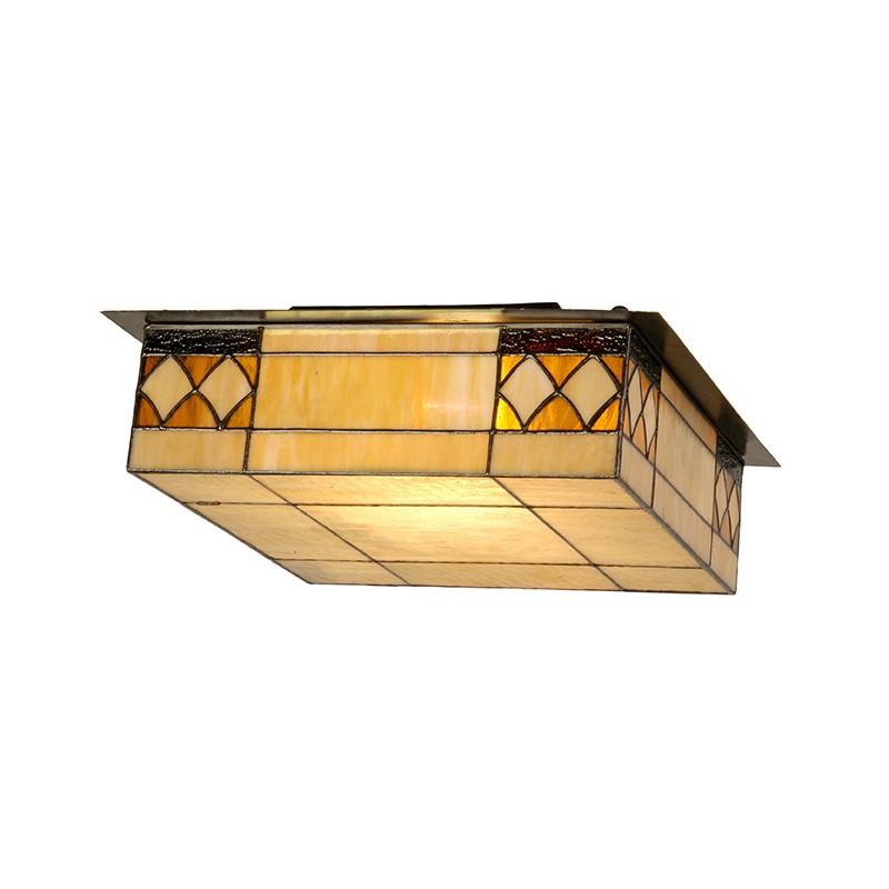 L mpara de techo tiffany rombos iluminashop - Lamparas de techo plafones ...