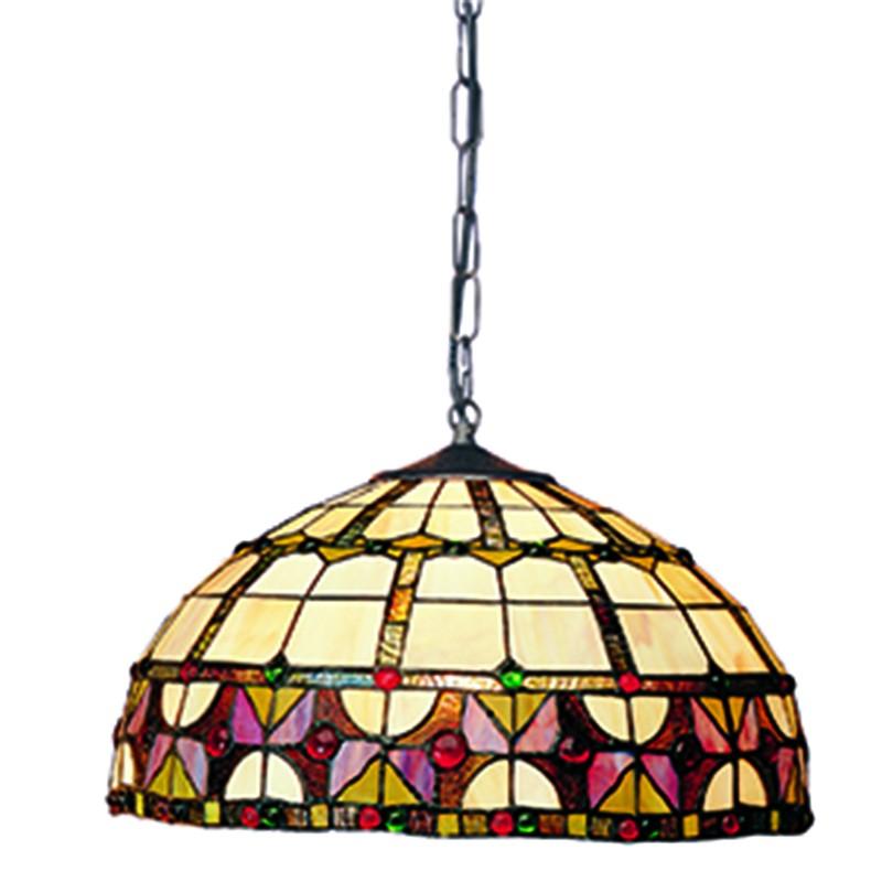 L mpara de techo tiffany vidriera iluminashop - Lamparas decorativas de techo ...