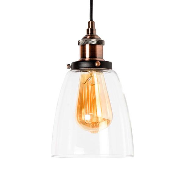 L mpara de techo vintage industrial glass iluminashop - Lampara industrial vintage ...