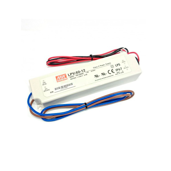 Fuente de alimentaci n para tiras led mean well 150w 12vdc - Tiras de led para exterior ...