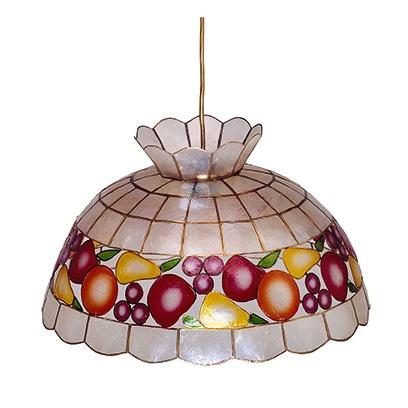 L mpara de techo nacar frutas iluminashop - Lamparas decorativas de techo ...