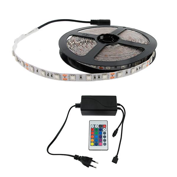 Tira-LED-12V-300LED-IP20-5m-RGB-con-Mando-Controlador-y-Fuente-de-Alimentacion - copia