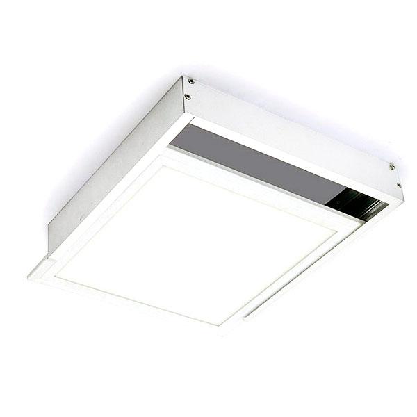 Kit de superficie de panel 60x60 blanco iluminashop for Paneles led de superficie