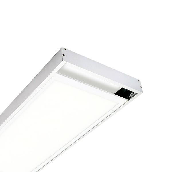 Kit de superficie de panel 120x30 blanco iluminashop for Paneles led de superficie