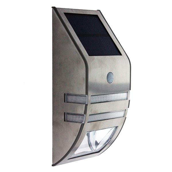 Aplique led solar con sensor pir mini 0 4 w iluminashop - Aplique solar exterior ...