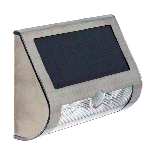 Aplique led solar con sensor pir mini 0 6 w iluminashop - Aplique solar exterior ...