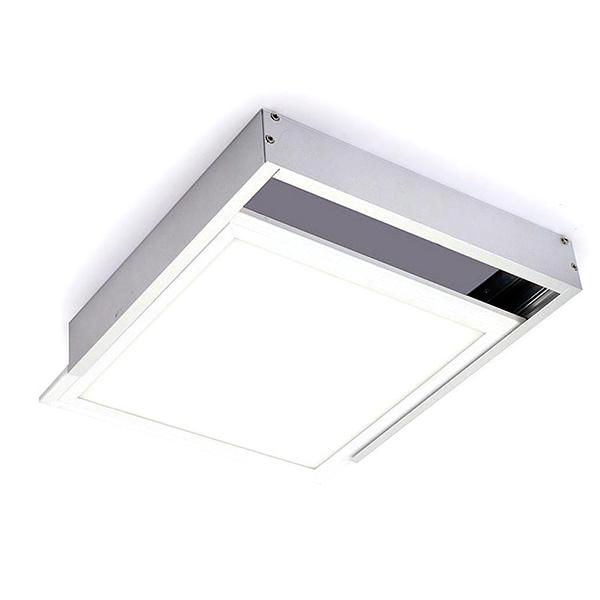 Kit de superficie de panel 60x60 plata iluminashop for Paneles led de superficie