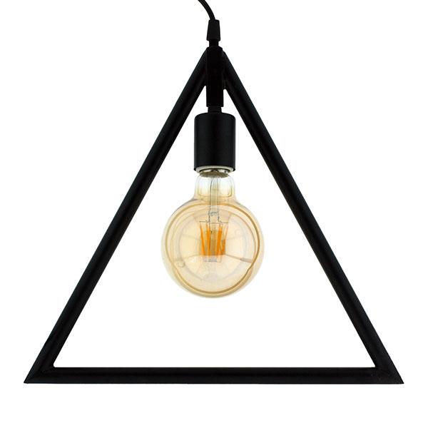 L mpara de techo vintage triangle iluminashop - Lamparas decorativas de techo ...