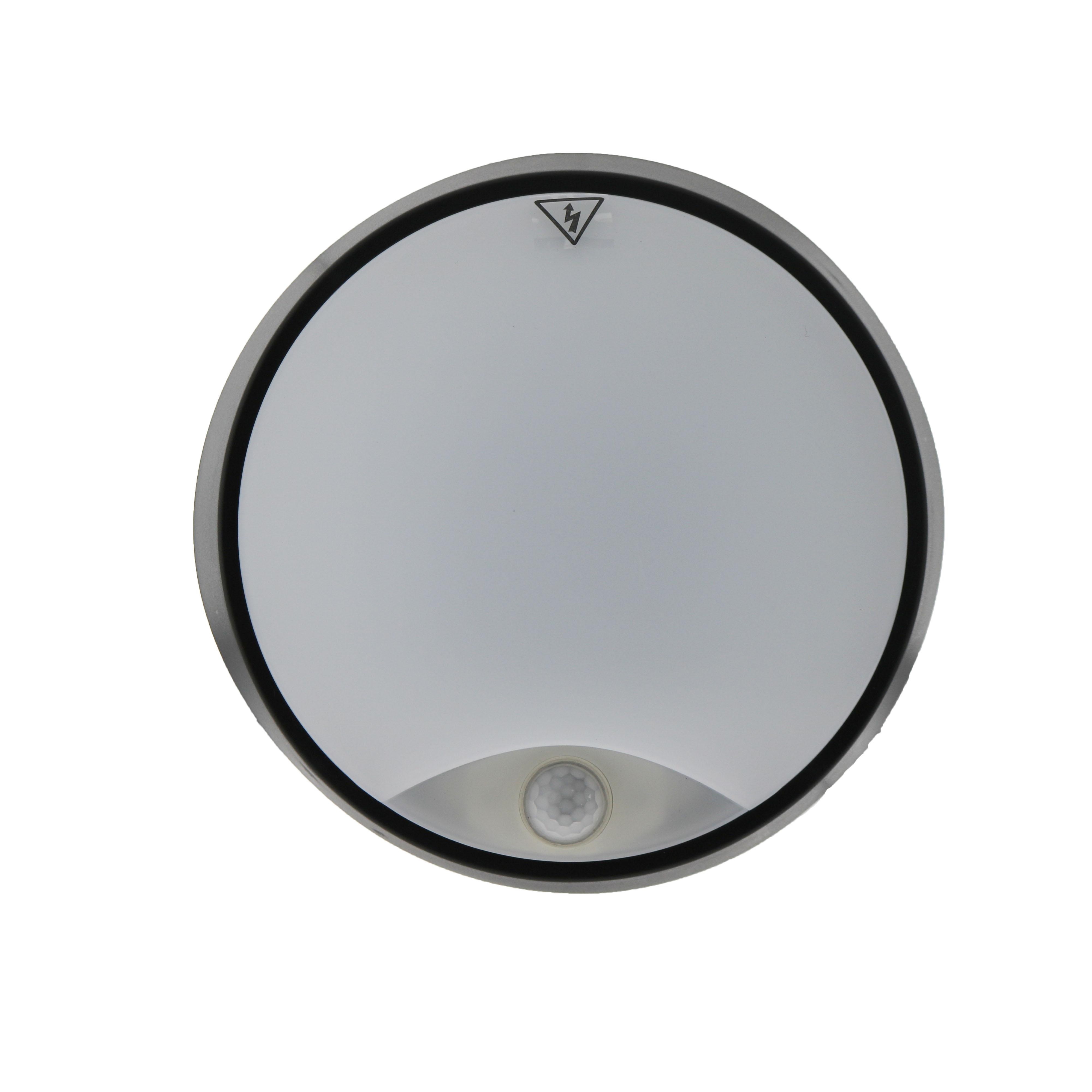 Plaf n led luxtar black con sensor pir 14w ip54 iluminashop for Plafon pared led con sensor pir