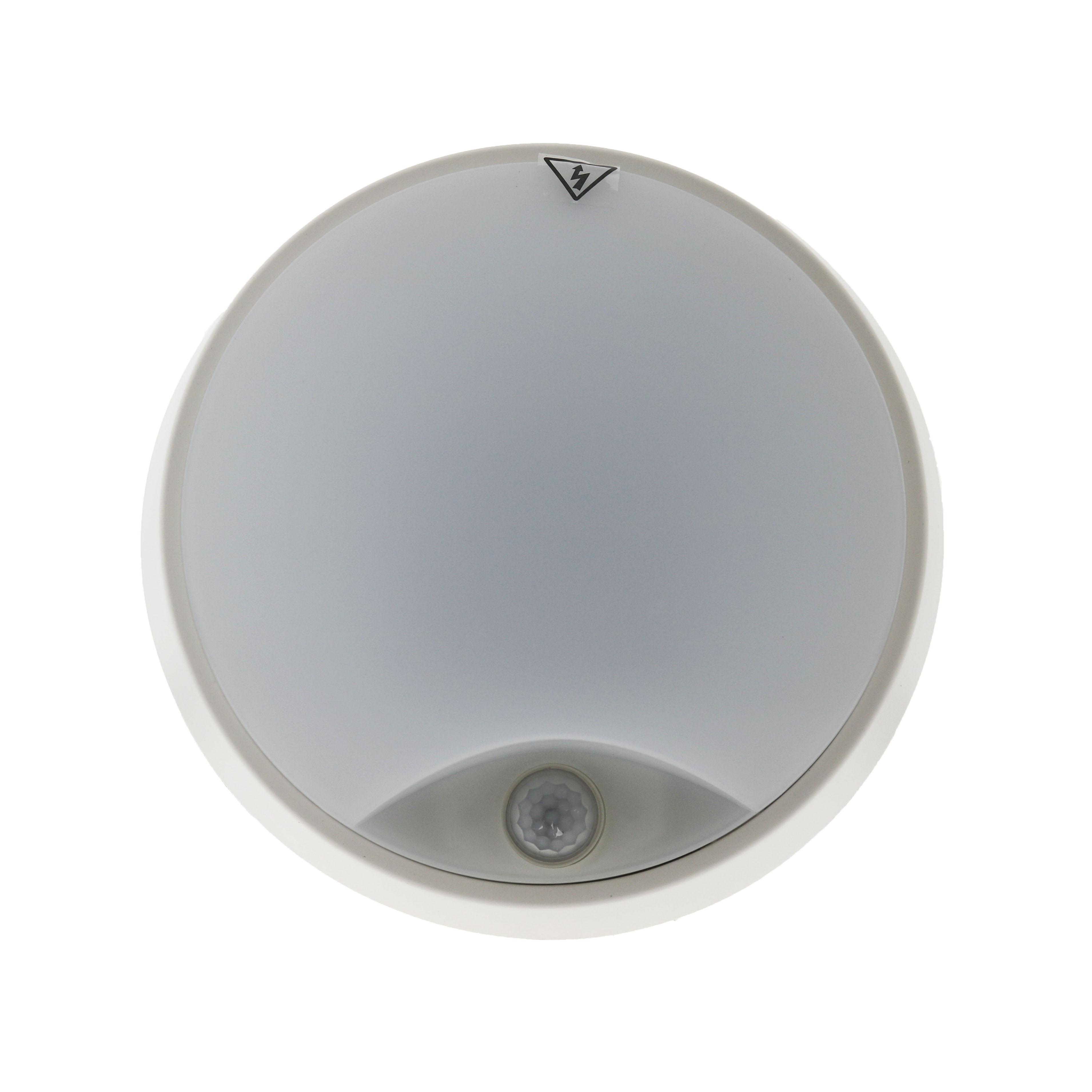 plaf n led luxtar con sensor pir 14w ip54 iluminashop